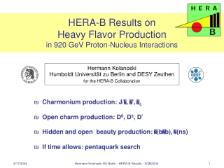 HERA-B Results on  Heavy Flavor Production  in 920 GeV Proton-Nucleus Interactions