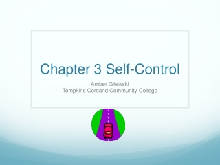 Chapter 3 Self-Control
