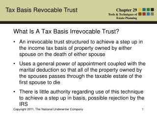 What Is A Tax Basis Irrevocable Trust?