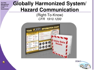 Globally Harmonized System/ Hazard Communication  (Right-To-Know) CFR  1910.1200