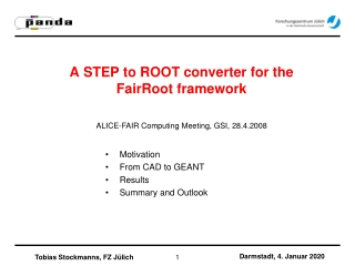 A STEP to ROOT converter for the FairRoot framework