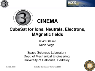 CINEMA CubeSat for Ions, Neutrals, Electrons, MAgnetic fields