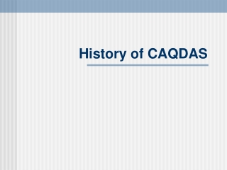 History of CAQDAS