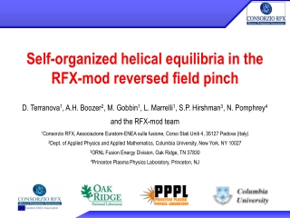 Self-organized helical equilibria in the RFX-mod reversed field pinch