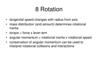 8 Rotation