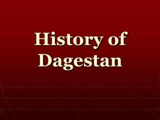 History of Dagestan