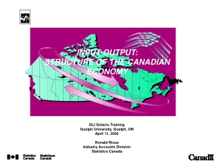 INPUT-OUTPUT: STRUCTURE OF THE CANADIAN ECONOMY