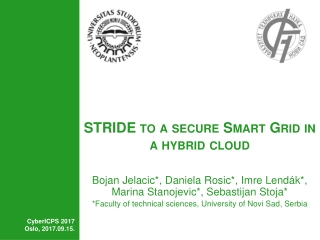 STRIDE to a secure Smart Grid in a hybrid cloud
