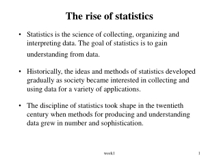 The rise of statistics