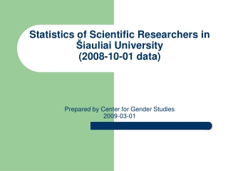 Number of Principal Researchers according to gender
