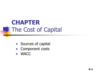 CHAPTER  The Cost of Capital