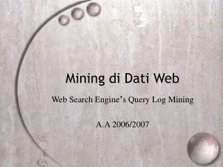 Mining di Dati Web