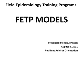 Field Epidemiology Training Programs