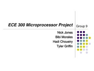 ECE 300 Microprocessor Project