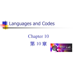 Languages and Codes