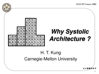 Why Systolic  Architecture ?