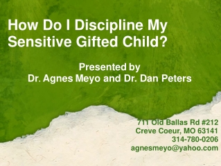 How Do I Discipline My Sensitive Gifted Child?