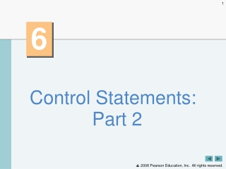 Control Statements: Part 2