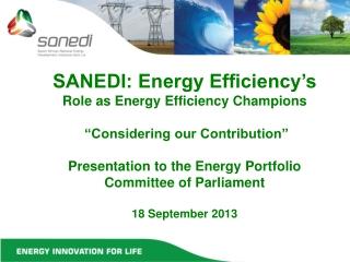 SANEDI-EE  'entering the market'