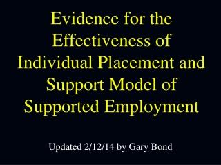 Updated 2/12/14 by Gary Bond