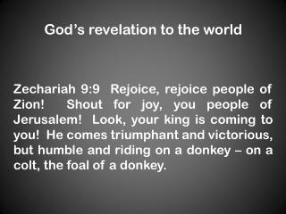 God ' s revelation to the world