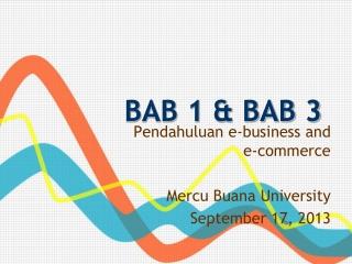 BAB 1 & BAB 3
