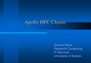 Apollo HPC Cluster