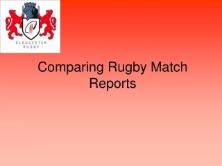 Comparing Rugby Match Reports