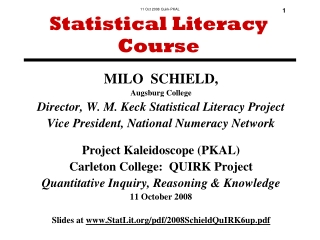 Statistical Literacy Course