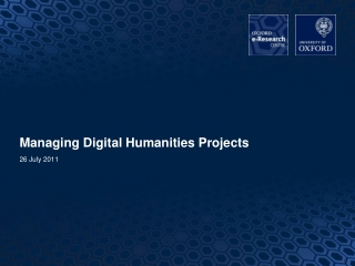 Managing Digital Humanities Projects