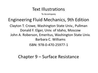 Text Illustrations  To Accompany Engineering Fluid Mechanics, 9th Edition