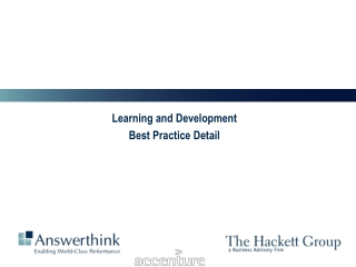 Learning and Development Best Practice Detail