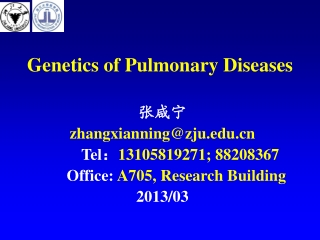 Genetics of Pulmonary Diseases