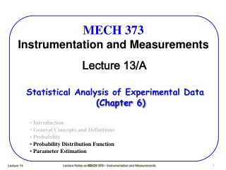 MECH 373 Instrumentation and Measurements