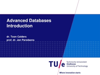 Advanced Databases Introduction