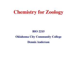 Chemistry for Zoology