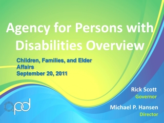 Agency for Persons with Disabilities Overview