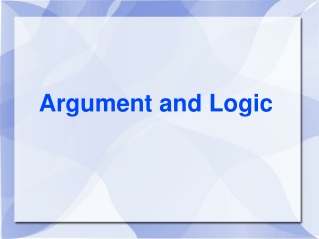 Argument and Logic