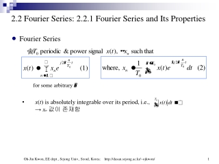 2.2 Fourier Series: 2.2.1  Fourier Series and Its Properties