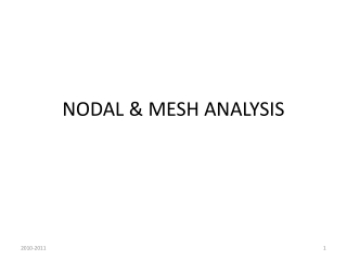 NODAL & MESH ANALYSIS