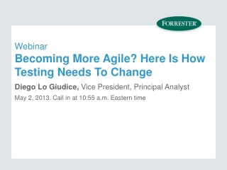 Webinar Becoming More Agile? Here Is How Testing Needs To Change