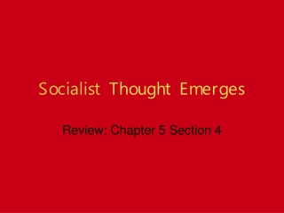Socialist  Thought Emerges