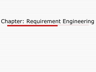Chapter: Requirement Engineering
