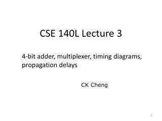 CSE 140L Lecture 3
