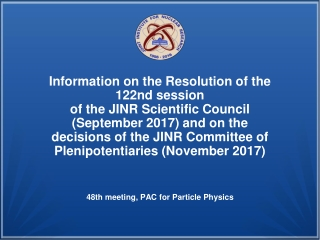 122nd session of the Scientific Council