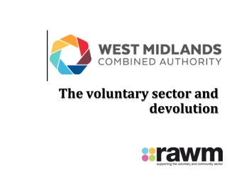 The voluntary sector and devolution