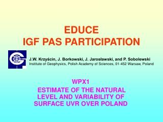 EDUCE  IGF PAS PARTICIPATION