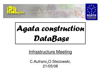 Agata construction  DataBase