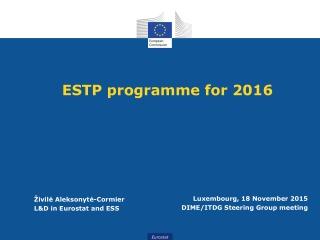 ESTP programme for 2016