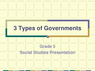 3 Types of Governments